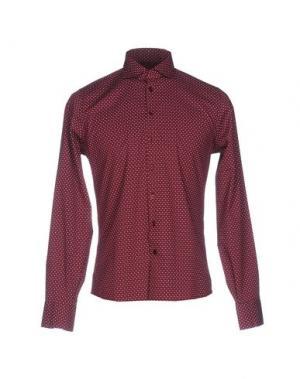 Pубашка YES ZEE by ESSENZA. Цвет: красно-коричневый