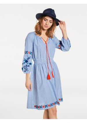 Платье B.C. BEST CONNECTIONS by Heine. Цвет: синий/белый