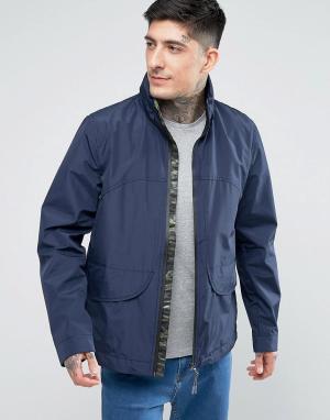 Parka London Куртка с камуфляжным принтом. Цвет: темно-синий