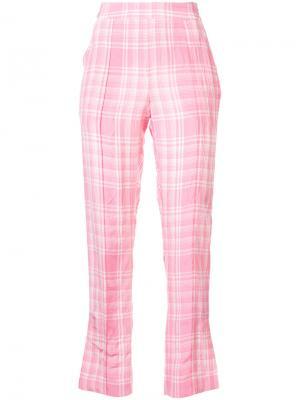 Клетчатые брюки Oboe Rosie Assoulin. Цвет: розовый и фиолетовый