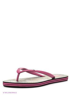 Шлепанцы SPRAY GRAFFIK J SNDL DC Shoes. Цвет: лиловый, темно-серый