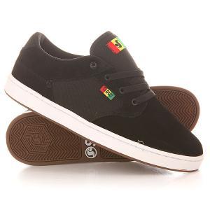 Кеды кроссовки низкие  Quentin Black Rasta DVS. Цвет: черный