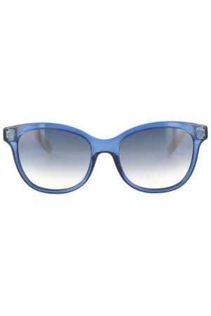 Очки солнцезащитные Salvatore Ferragamo. Цвет: голубой