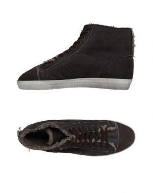 Высокие кеды и кроссовки YAB. Цвет: темно-коричневый