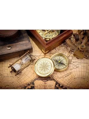 Набор для вышивания бисером Карта времени Матренин Посад. Цвет: серый, бежевый, коричневый