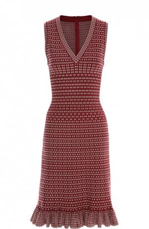 Платье Alaia. Цвет: бордовый