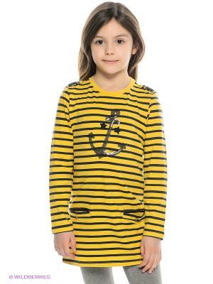 Туника MANAI. Цвет: желтый, темно-синий