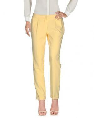 Повседневные брюки H2O ITALIA. Цвет: желтый