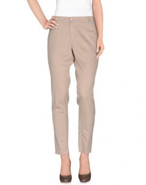 Повседневные брюки EUROPEAN CULTURE. Цвет: бежевый