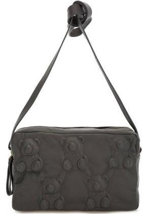 Маленькая кожаная сумка с двумя отделами Io Pelle. Цвет: серый