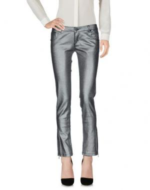 Повседневные брюки ELLA LUNA. Цвет: серебристый