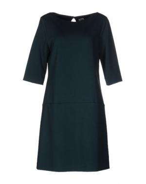 Короткое платье SIYU. Цвет: темно-зеленый