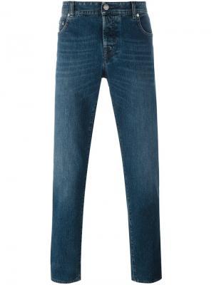 Прямые джинсы Borrelli. Цвет: синий