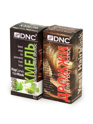 Набор масок для ухода за волосами:  Хмель (100 гр) и Дрожжи DNC. Цвет: светло-бежевый, светло-желтый, светло-коричневый