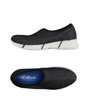 Низкие кеды и кроссовки L'ARIANNA. Цвет: черный