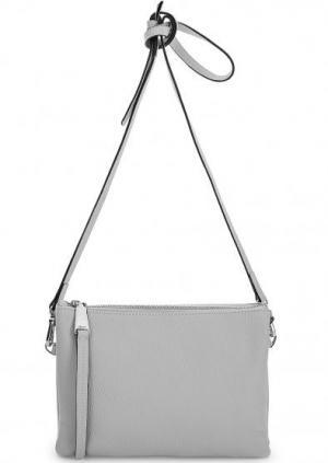 Кожаная сумка с тонким плечевым ремнем Abro. Цвет: серый