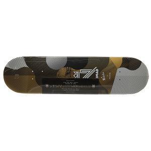 Дека для скейтборда  Resilio Gold Deck Multi 32 x 8.125 (20.6 см) Nomad. Цвет: белый,черный,желтый