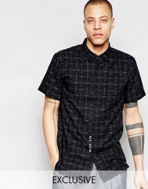 Black Eye Rags Рубашка с короткими рукавами. Цвет: черный