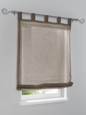 Римская штора Otto. Цвет: коричневый