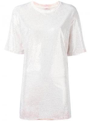 Декорированная футболка свободного кроя Faith Connexion. Цвет: розовый и фиолетовый