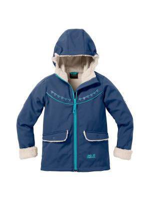 Куртка COLD BREEZE JACKET GIRLS Jack Wolfskin. Цвет: темно-синий