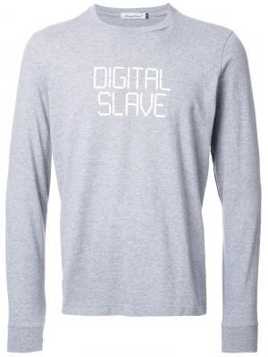 Кофта с надписью Digital Slave Undercover. Цвет: серый