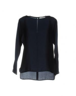 Блузка AGLINI. Цвет: темно-синий
