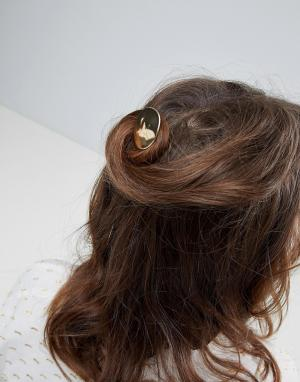 ASOS Заколка для волос. Цвет: золотой