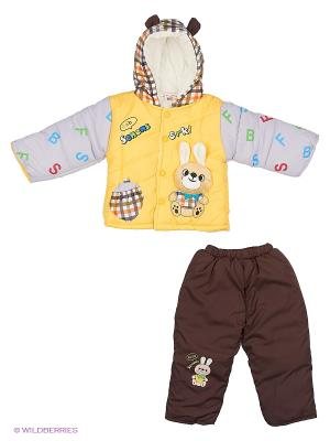 Комплект 2 пр Happy Bear. Цвет: желтый