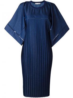 Объемное платье с плиссировкой Veronique Branquinho. Цвет: синий