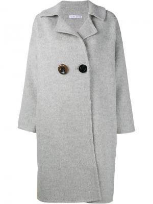 Пальто свободного кроя Kate Rejina Pyo. Цвет: серый