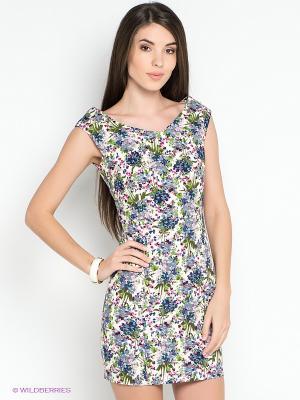 Платье Befree. Цвет: синий, сиреневый, молочный