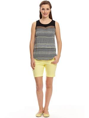Комплект с шортами RELAX MODE. Цвет: желтый
