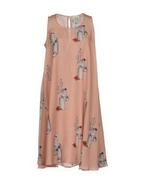 Платье до колена ATTIC AND BARN. Цвет: розовый