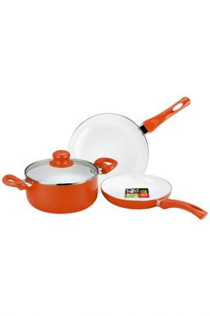Набор посуды Calve. Цвет: оранжевый