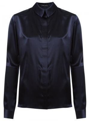 Классическая рубашка Gloria Coelho. Цвет: синий