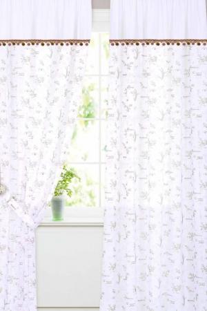 Штора готовая 150x260 Garden. Цвет: белый, розовый