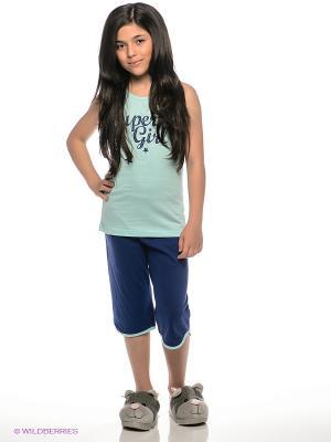 Пижама Vienetta Secret. Цвет: синий
