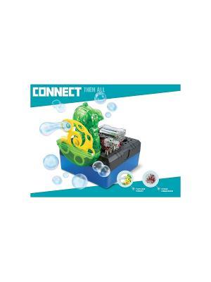 Научный опыт Мыльные пузыри со светом, на батарейках, в коробке Amazing Toys. Цвет: синий, зеленый, темно-серый