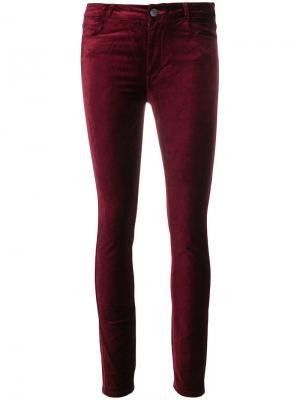 Укороченные брюки Hoxton Paige. Цвет: красный