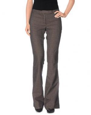 Повседневные брюки TERESA DAINELLI. Цвет: красно-коричневый