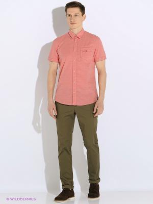 Рубашка TOM TAILOR. Цвет: красный