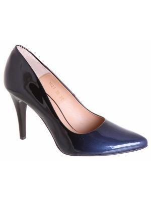 Туфли Goergo. Цвет: черный, синий