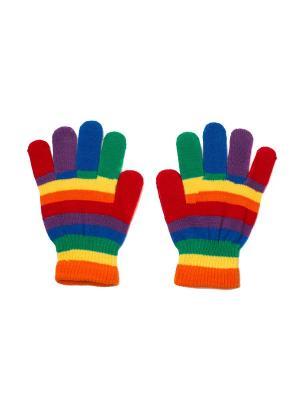 Перчатки PERCH3-RAINBOW Mitya Veselkov. Цвет: красный, желтый, синий