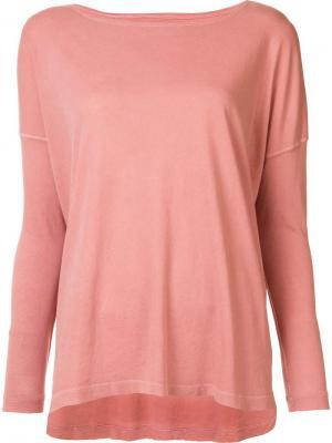 Longsleeved T-shirt The Great. Цвет: розовый и фиолетовый