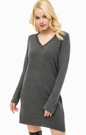Базовое платье-свитер MORE &. Цвет: серый