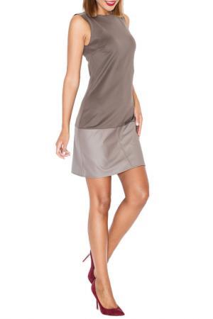 Платье KATRUS. Цвет: brown