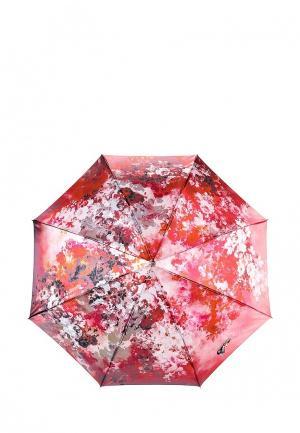 Зонт-трость Fabretti. Цвет: красный