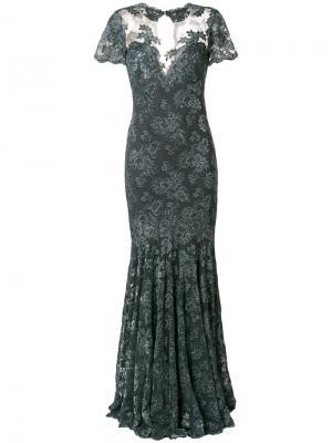 Кружевное платье Olvi´S. Цвет: серый
