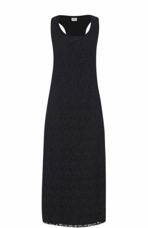 Кружевное платье-макси без рукавов Deha. Цвет: черный